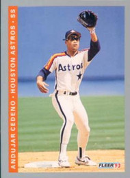 1993 Fleer #433 Andujar Cedeno VG Houston Astros