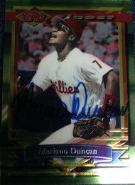 Mariano Duncan Autographed 1994 Topps Finest #352