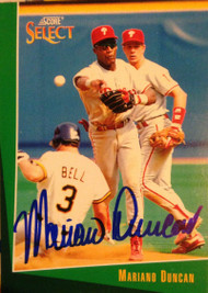 Mariano Duncan Autographed 1993 Score Select #151