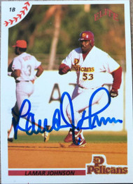 Lamar Johnson Autographed 1990 Elite Senior League #7