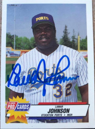 Lamar Johnson Autographed 1993 Fleer/Pro Cards #760