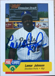Lamar Johnson Autographed 1994  Fleer/Pro Cards #1708