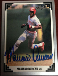 Mariano Duncan Autographed 1991 Leaf #494