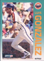 1992 Fleer #434 Luis Gonzalez VG Houston Astros