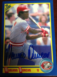 Mariano Duncan Autographed 1990 Score #506