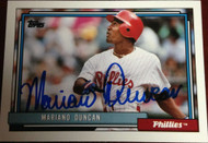 Mariano Duncan Autographed 1992 Topps Traded #30T