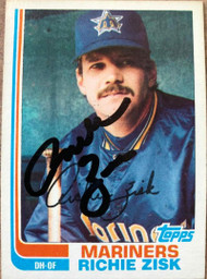 Richie Zisk Autographed 1982 Topps #769