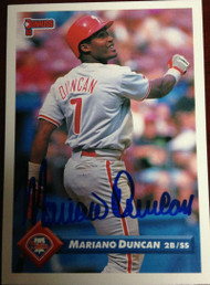 Mariano Duncan Autographed 1993 Donruss #382