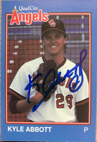 Kyle Abbott Autographed 1989 Grand Slam Quad City Angels #13