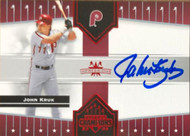 John Kruk Autographed 2005 Donruss Champions Impressions Red #63 SN 214/250