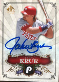 John Kruk Autographed 2006 SP Legendary Cuts #99