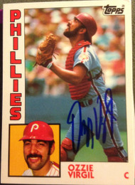 Ozzie Virgil Autographed 1984 Topps Tiffany #484