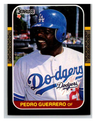 1987 Donruss #53 Pedro Guerrero VG Los Angeles Dodgers