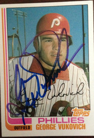 George Vukovich Autographed 1982 Topps #389