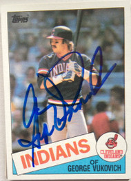 George Vukovich Autographed 1985 Topps #212