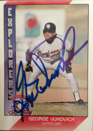 SOLD 2121 George Vukovich Autographed 1991 Pacific Senior League #45