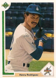 1991 Upper Deck #21 Henry Rodriguez VG RC Rookie Los Angeles Dodgers