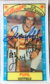 Terry Puhl Autographed 1979 Kellogg's #33