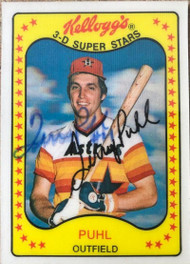 Terry Puhl Autographed 1981 Kellogg's #42