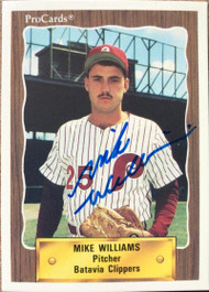 Mike Williams Autographed 1990 Pro Cards #3067