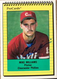 Mike Williams Autographed 1991 Pro Cards #1623