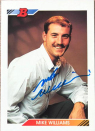 Mike Williams Autographed 1992 Bowman #152 Rookie Card