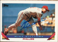 Mike Williams Autographed 1993 Topps #99