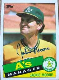 Jackie Moore Autographed 1985 Topps #38