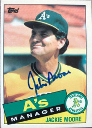 Jackie Moore Autographed 1985 Topps Tiffany #38
