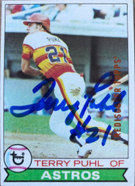 Terry Puhl Autographed 2017 Topps Rediscover Buyback BRONZE 1979 Topps #617