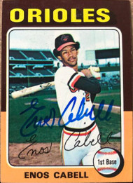 Enos Cabell Autographed 1975 Topps Mini #247
