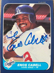 Enos Cabell Autographed 1986 Fleer #126