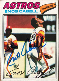 Enos Cabell Autographed 1977 Topps #567