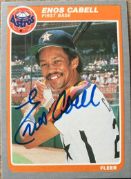 Enos Cabell Autographed 1985 Fleer #346