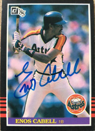 Enos Cabell Autographed 1985 Donruss #110