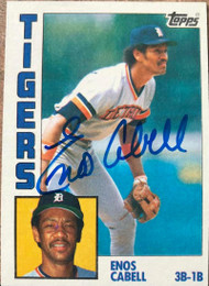 Enos Cabell Autographed 1984 Topps Tiffany #482