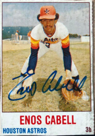 Enos Cabell Autographed 1978 Hostess #9