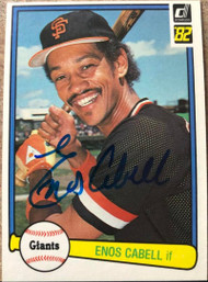 Enos Cabell Autographed 1982 Donruss #272
