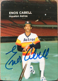 Enos Cabell Autographed 1985 Mother's Cookies #10