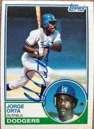 Jorge Orta Autographed 1983 Topps #722