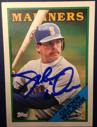 Glenn Wilson Autographed 1988 Topps Traded #129T