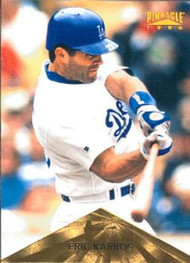 1996 Pinnacle #62 Eric Karros VG Los Angeles Dodgers