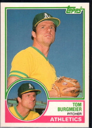 1983 Topps Traded #16T Tom Burgmeier VG Oakland Athletics