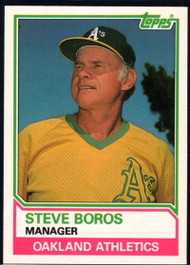 1983 Topps Traded #13T Steve Boros MG VG Oakland Athletics