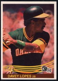 1984 Donruss #400 Davey Lopes VG Oakland Athletics