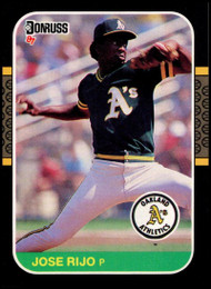 1987 Donruss #55 Jose Rijo VG Oakland Athletics