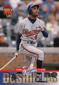 1994 Triple Play #83 Delino DeShields VG Los Angeles Dodgers