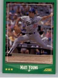 1988 Score #357 Matt Young VG Los Angeles Dodgers