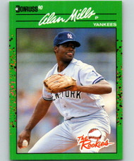 1990 Donruss Rookies #44 Alan Mills VG RC Rookie New York Yankees