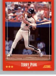 1988 Score #282 Terry Puhl VG Houston Astros